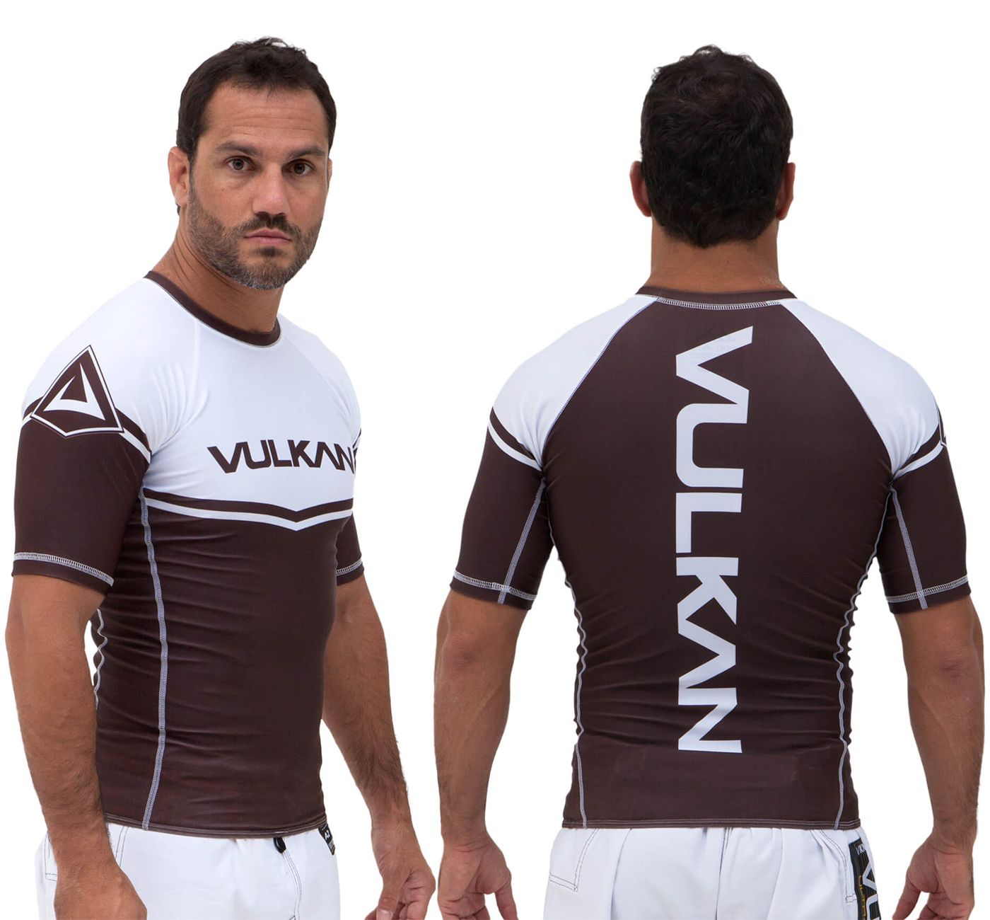 Vulkan Ranked Rashguard - Brown - LS