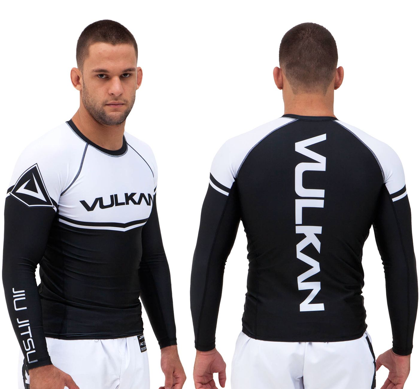 Vulkan Ranked Rashguard - Black/White LS