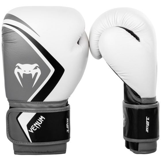 Venum Contender 2.0 Boxing Gloves - White/Grey