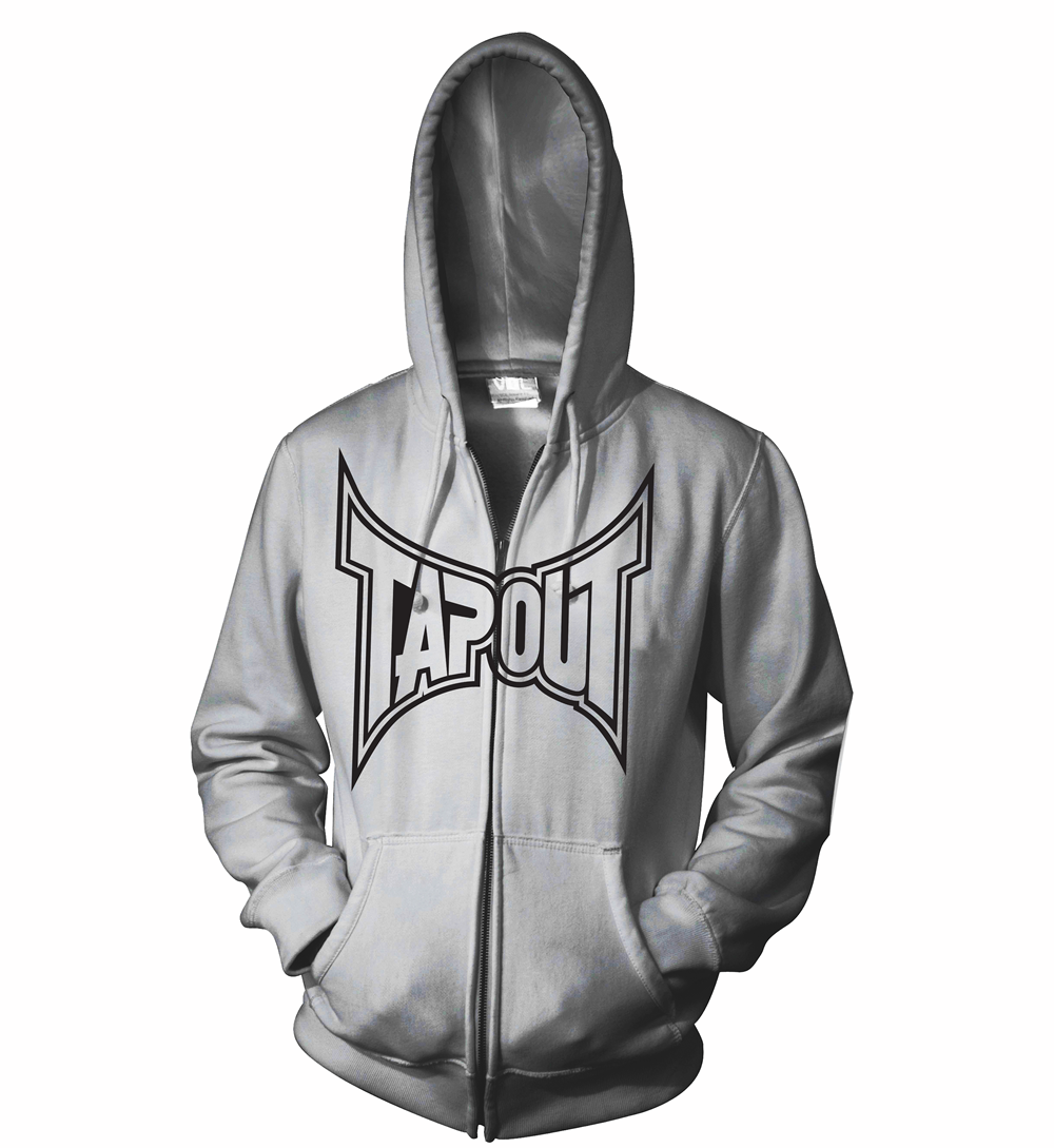 Tapout Classic Zip Hoodie - Grey